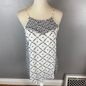Lucky Brand mixed print tank black white large